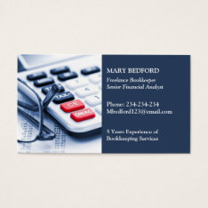 Accountant Business Card at Zazzle