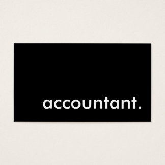 accountant. business card