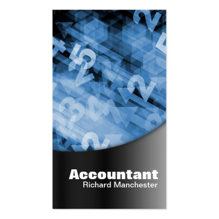 Stylish Black And Blue Business Cards Bookkeeper Accountant Profile Cards