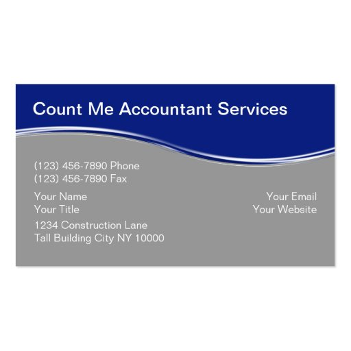 Accounting business card templates page4 bizcardstudio accountant business cards flashek Gallery