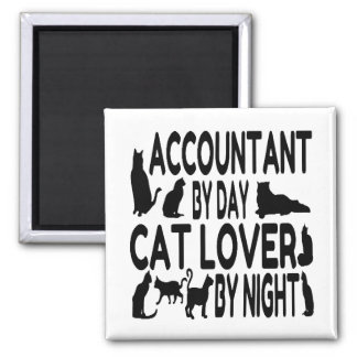Accountant by Day Cat Lover by Night 2 Inch Square Magnet