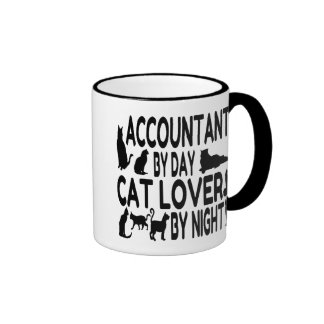 Accountant by Day Cat Lover by Night Ringer Coffee Mug