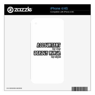 Accountant By Day...Deadly Ninja By Night Decals For iPhone 4