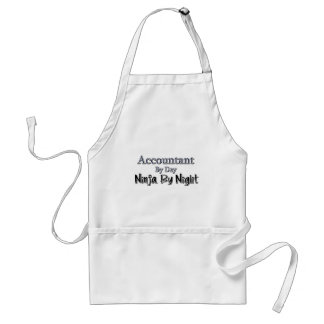Accountant By Day, Ninja By Night Adult Apron