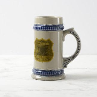 Accountant Caffeine Addiction League Beer Stein