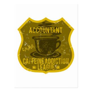 Accountant Caffeine Addiction League Postcard