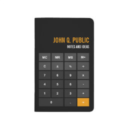 Accountant Calculator Black Flat Design Journal