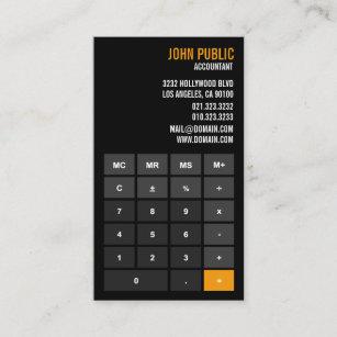 accountant calculator financial advisor business card - Accountant Business Card