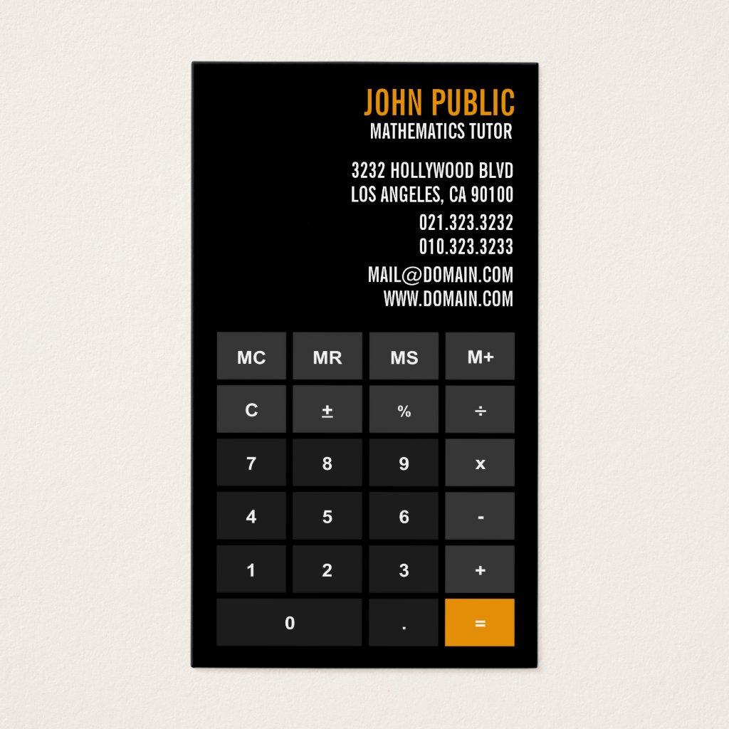 Accountant Calculator Financial Advisor Business Card