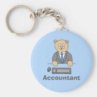 Accountant, Cartoon Bear. Key Chains