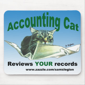 Accountant Cat Review YOUR records Mousepads