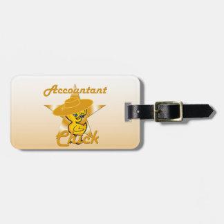 Accountant Chick #10 Bag Tag
