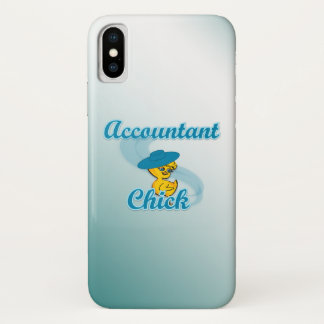 Accountant Chick #3 iPhone X Case