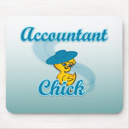 Accountant Chick #3 Mousepads