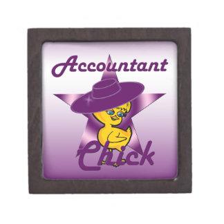 Accountant Chick #9 Keepsake Box