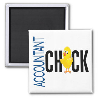 Accountant Chick Refrigerator Magnets
