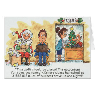 Accountant Christmas Card Santa Audit