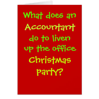 Accountant Christmas Cruel & Funny Christmas Joke Card