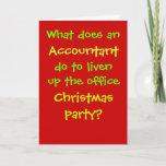 Accountant Christmas Cruel & Funny Christmas Joke Holiday Card
