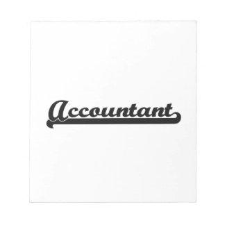 Accountant Classic Job Design Scratch Pad