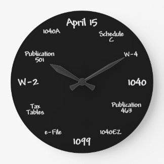 Accountant Clock - Tax Time Clock