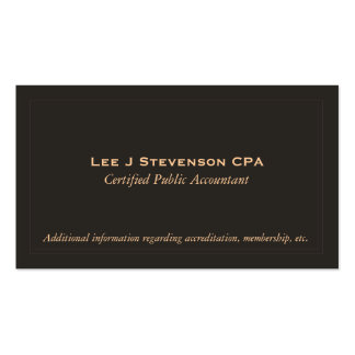 Accountant CPA Business Card