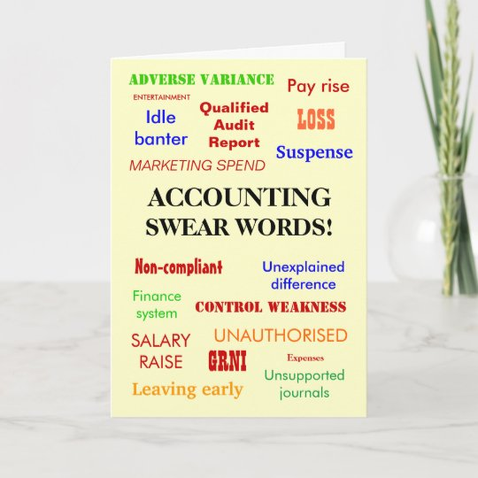 accountant cpa exam pass congratulations joke card