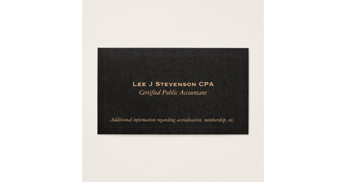 Black Linen Business Cards Image collections - Card Design And ...