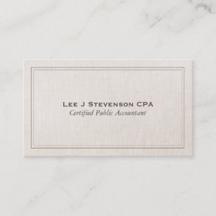 Classic business cards templates zazzle accountant cpa professional simple classic business card colourmoves