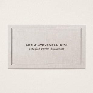 Cpa business cards templates zazzle accountant cpa professional simple classic business card colourmoves