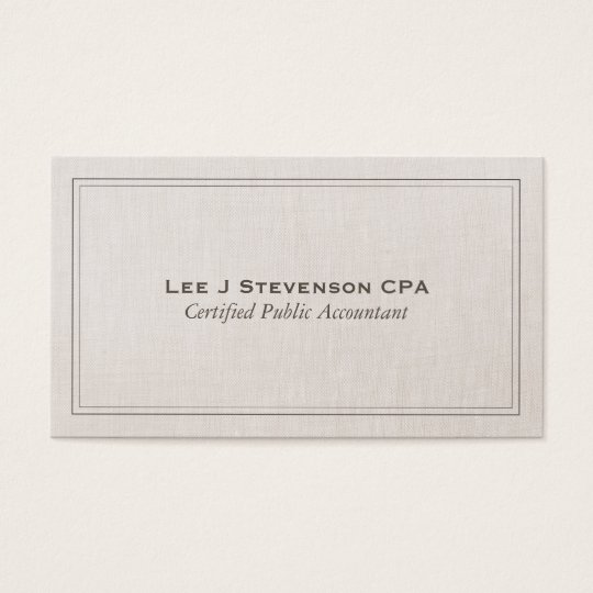 Accountant cpa professional simple classic business card zazzle accountant cpa professional simple classic business card reheart Gallery