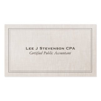 Accountant CPA Professional Simple Classic Double-Sided Standard Business Cards (Pack Of 100)