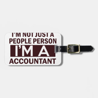 accountant design tag for luggage
