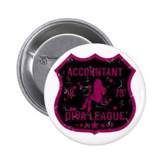 Accountant Diva League Pins