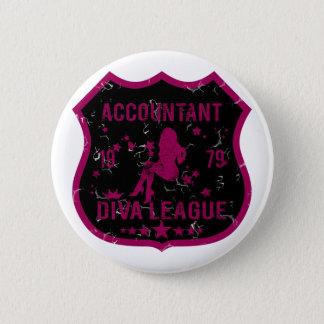 Accountant Diva League Pinback Button