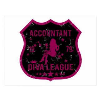 Accountant Diva League Postcard