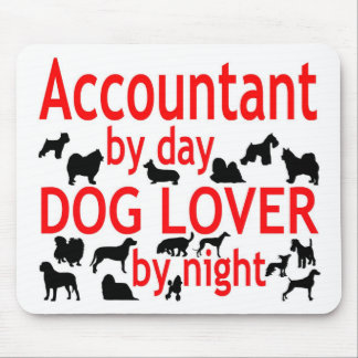 Accountant Dog Lover Mouse Pad