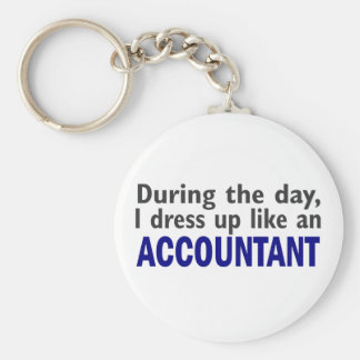 ACCOUNTANT During The Day Basic Round Button Keychain