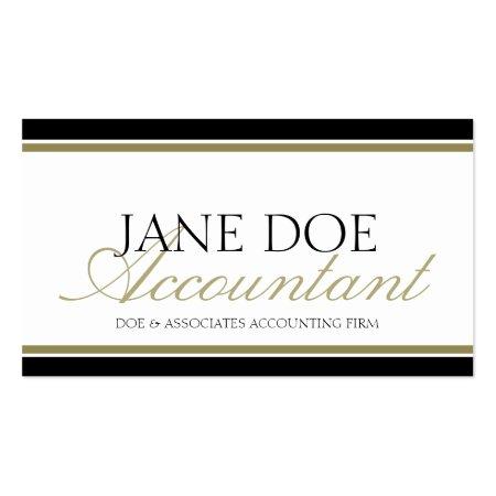 Simple Elegant Gold Script Accountant Profilecards