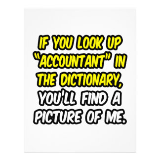 Accountant In Dictionary...My Picture Full Color Flyer