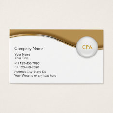 Accountant Indestructible Business Cards at Zazzle