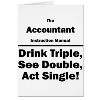 accountant instructional manual card