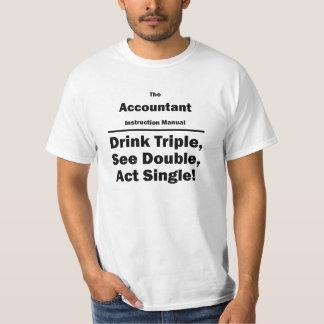 accountant instructional manual t-shirt