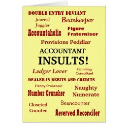 ACCOUNTANT INSULTS !! Cruel Funny Birthday Card