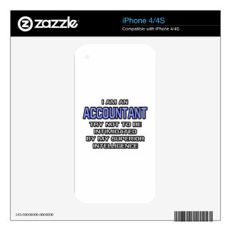Accountant Joke ... Superior Intelligence Skins For The iPhone 4S