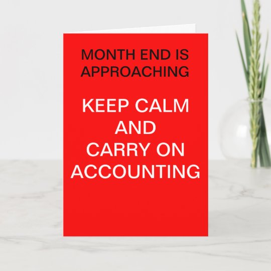 Accountant Keep Calm Accounting Birthday Card Zazzle