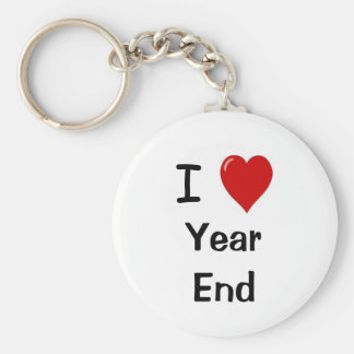 Accountant Keychain - I Love Year End - Quote