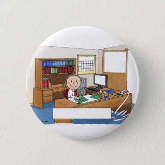 Accountant, Male - Personalized Cartoon Gift Button