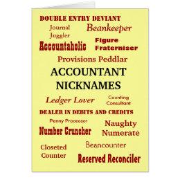 ACCOUNTANT NICKNAMES Congratulations Card