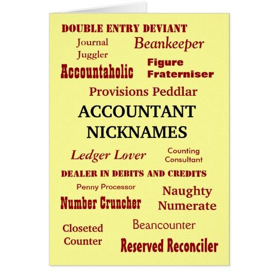 ACCOUNTANT NICKNAMES Thank You Card